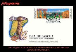 AMERICA. CHILE SPD-FDC. 1992 ISLA DE PASCUA. TERRITORIO INSULAR CHILENO - Chile