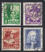SVIZZERA - 1934 - Serie Completa Usata: Yvert 278/281. 4 Valori, Pro Juventute. - Pro Juventute