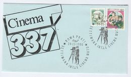 1986 Rome SILENT FILM WEEK  EVENT COVER Illus OLD MOVIE CAMERA Italy Stamps Cinema Photography - Cinema