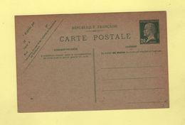 Entier 20c Pasteur Date 541 - Postales Tipos Y (antes De 1995)
