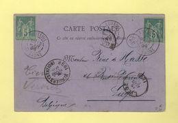 Luxeuil - Haute Saone - Destination Belgique - 13 Aout 1898 - 1877-1920: Semi Modern Period