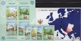 EUROPE Stamp On Stamps 2005 SERBIA-BOSNA 339/2+Bl.13B,Montenegro Block 3 ** 164€ Hojita Blocs Ss Sheets M/s Bf CEPT - Drapeaux