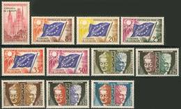 SERVICE CONSEIL DE L'EUROPE / UNESCO  16 à 26 De 1958 - 1965 NEUFS  ** - Service