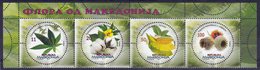 Macedonia 2017 Flora, Cannabis Sativa, Cotton, Tobacco, Opium Poppy, Industrial Plants, Set MNH - Toxic Plants