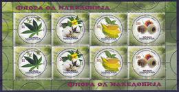 Macedonia 2017 Flora, Cannabis Sativa, Cotton, Tobacco, Opium Poppy, Industrial Plants, Mini Sheet MNH - Toxic Plants