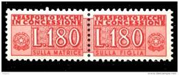 ITALIA Repubblica 1955 1984 Pacchi In Concessione Lire 180 Filigrana Stelle MNH ** Integro - 6. 1946-.. Repubblica