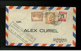 1937 Colombia First Flight Cover Barranquilla Curacao - Colombia