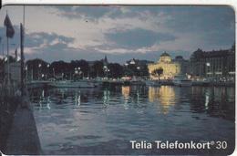 SWEDEN(chip) - Stockholm By Night, 05/94, Used - Landschaften