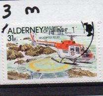 ALDERNEY 1991 Casquets Lighthouse 31p Used - Alderney