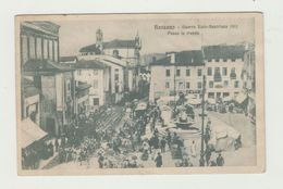 BASSANO - GUERRA ITALO - AUSTRIACA 1915 - PASSA LA TRUPPA - VIAGGIATA 1917 - POSTA MILITARE 20° CORPO ARMATA - POSTCARD - Vicenza