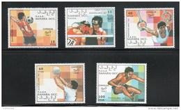 West Sahara 1991 Barcelona Olympic Games (5 Values) MNH - Fantasie Vignetten