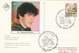1987 EDOARDO BENNATO SanRemo Festival EVENT COVER Music Italy Stamps Card - Music