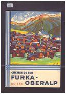 VALAIS SUISSE - CHEMIN DE FER FURKA OBERALP - TRAIN - BAHN - LIVRET 32 PAGES - TB - Tourism Brochures