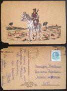 Sardegna - Costumi Sardi - Cavalcata - Cartolina In Sughero - Postcard In Cork - Carte En Liege - Horse Chevaux ITALY Vg - Cartoline