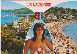 83,VAR,LE LAVANDOU,PLAGE,FEMME PIN UP,SEXY,NATURISTE,NU,NUE - Le Lavandou