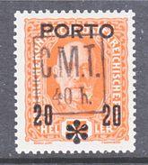 ROMANIAN  OCCUP. WESTERN  UKRAINE  C.M.T.  Mi. PORTO  13    * - Besetzungen