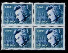 Block 4 Of Vietnam Viet Nam MNH Perf Withdrawn Stamps 2006 : 250th Birth Anniversary Of Mozart / Music (Ms946) - Viêt-Nam
