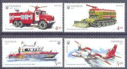 2017. Ukraine, History Of Fire Transport In Ukraine, 4v, Mint/** - Ucrania