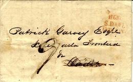 "1831- Letter From Gibraltar  To Cadiz  - Back  "" Recivida Y Encaminada Por  Lalane Y Echecopar "" - ...-1850 Prephilately"