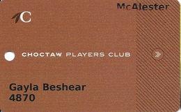 Choctaw Casino McAlester, OK Slot Card - Casino Cards