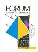 FORUM QUALITE INNOVATION LA POSTE PAVILLON BALTARD 1989 - Postal Services