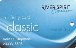 River Spirit Casino - Tulsa, OK - Slot Card - No PG Over Mag Stripe - Casino Cards