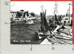 CARTOLINA VG ITALIA - RIMINI - Porto Canale - 10 X 15 - ANN. 1963 - Rimini