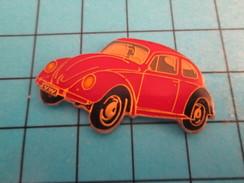 Pin313c Pin's Pins : Rare Et Belle Qualité : AUTOMOBILE / VW VOLKSWAGEN COCCINELLE ROUGE Grand Pin's - Volkswagen