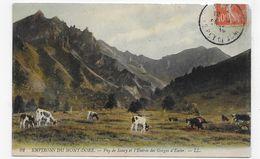 (RECTO / VERSO) ENVIRONS DU MONT DORE EN 1910 - N° 92 - ENTREE DES GORGES D' ENFER AVEC VACHES - CPA VOYAGEE - Le Mont Dore