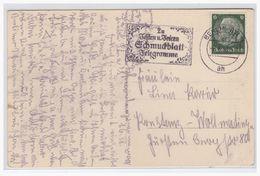 Dt- Reich (004867) AK Berlin Mit Werbestempel  Zum Schmuckblatt Telegramm, Gelaufen Am 2.6.1938 - Allemagne