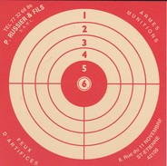 42----SAINT-ETIENNE--armurerie P. RUSSIER & FILS  8 Rue Du 11 Novembre--( CIBLE CARTON )--( Peu Courante )--voir 2 Scans - Waffenschiessen