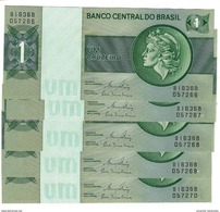 BRAZIL 1 CRUZEIRO ND (1980) P-191Ac UNC 5 PCS [BR812c] - Brazil