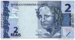 BRAZIL 2 REAIS 2010 (2013) P-252 UNC PREFIX AA [BR874a] - Brazilië