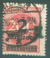 Allemagne  Michel  309 Y  Ob  B/TB   Geprüft  Bechtold - Used Stamps