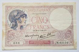 BILLET - FRANCE - P.83 - 5 FRANCS - 28/09/1939 - LE CAISSIER GENERAL - DOCKER - BATEAU - 1871-1952 Antiguos Francos Circulantes En El XX Siglo