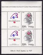 Pologne 1989 N° Y&T :  BL. 118 (gomme Tâchée) ** - Blocs & Feuillets
