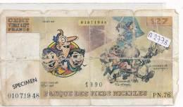 Billets - B2778--Billet Fictif  Banque Les Pieds Nickelés (type, Nature, Valeur, état... Voir Double  Scans) - Fictifs & Spécimens