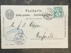 D18 Schweiz Switzerland Suisse Svizzera Ganzsache Stationery Entier Postal P 26 Von Basel Nach Greifswald - Ganzsachen