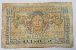 BILLET - FRANCE - P.M.7a - TRESOR FRANCAIS - TERRITOIRES OCCUPES - MOISSON - Treasury
