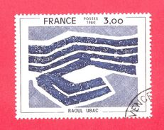 N°2075b (1979) Couleur Beige Omise - Oblitéré - Raoul Ubac - Errors & Oddities