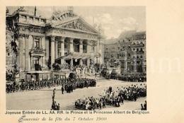 Postcard / ROYALTY / Belgium / Belgique / Prince Albert / Princesse Elisabeth / Bruxelles / 1900 /  Palais De La Bourse - Monuments, édifices