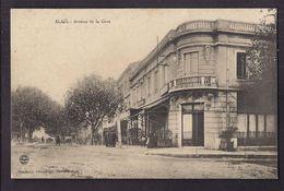 CPA 30 - ALAIS - ALES - Avenue De La Gare - TB PLAN ANIMATION + Terrasse Café - Alès