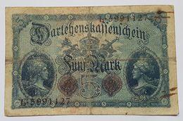 BILLET - ALLEMAGNE - EMPIRE - P.47b - DARLEHENSKASSENSCHEIN - 5 MARK - 05/08/1914 - [ 2] 1871-1918 : German Empire