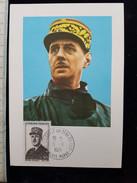CPSM   General De Gaulle, Juin 40 Premier Jour - Cartes-Maximum