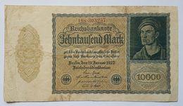 BILLET - ALLEMAGNE - REPUBLIQUE DE WEIMAR - P.72 - 10000 MARK - 19/01/1922 - [ 3] 1918-1933 : République De Weimar