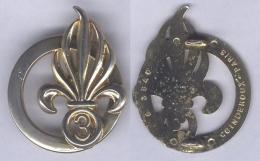 Insigne De Béret Du 3e Régiment Etranger D'Infanterie - Army