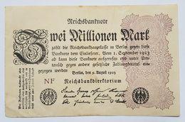 BILLET - ALLEMAGNE - REPUBLIQUE DE WEIMAR - P.103 - 2 MILLION DE MARK - 09/08/1923 - UNIFACE - 2 Millionen Mark