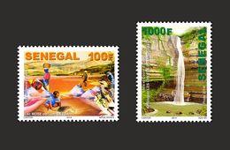 SENEGAL 2014 LACS LAC LAKE LAKES WATERFALL WATER FALL FALLS WATER EAU CHUTTE CHUTE CHUTTES CHUTES RIVIERE MNH - RARE - Senegal (1960-...)