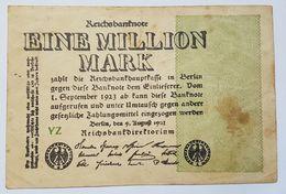 BILLET - ALLEMAGNE - REPUBLIQUE DE WEIMAR - P.102 - 1 MILLION DE MARK - 09/08/1923 - UNIFACE - [ 3] 1918-1933 : Weimar Republic