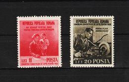 1950 - Congres Des Comites Du Lutte Pour Le Paix Mi No 1236/1237 Et Yv No 1126/1127 MNH - Ungebraucht